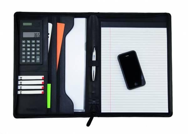Monolith 2914 Schreibmappe Konferenzmappe A4 mit Taschenrechner