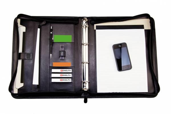 Monolith 2924 Konferenzmappe Schreibmappe A4 mit Ringmechanik
