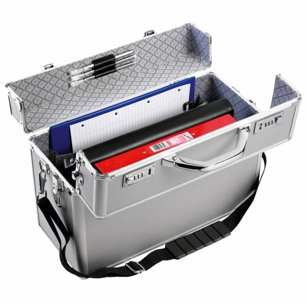 Monolith 2323 Pilotenkoffer aus Aluminium mit Laptopfach