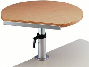 Maul Ergonomisches Tischpult, Klemmfuß, Platte aus Buche