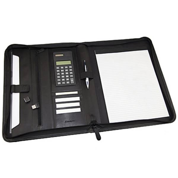 Monolith 2881 - Schreibmappe Konferenzmappe A4 mit Taschenrechner