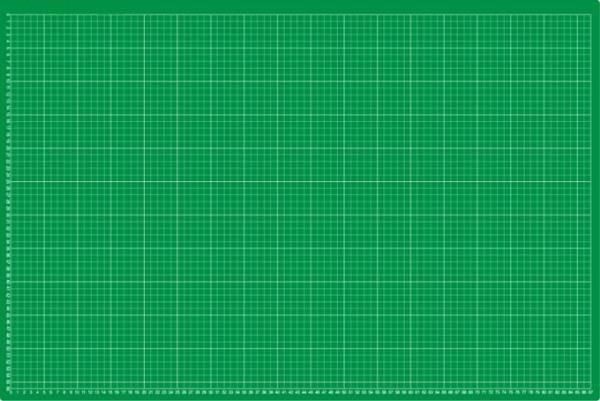 selbstheilende Schneidematte 60 x 90 cm (A1) grün mit einseitigem Raster