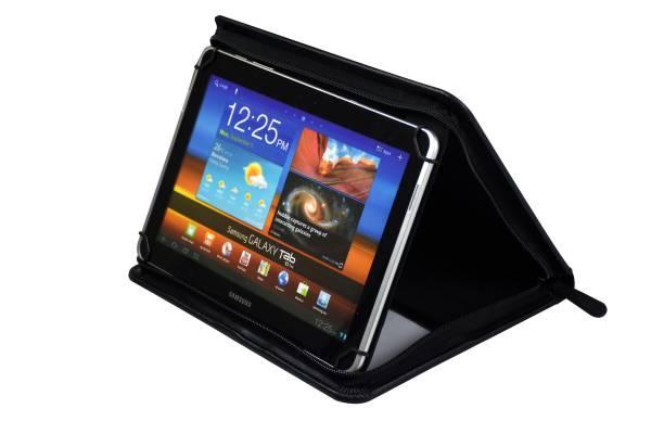 Monolith 2946 Konferenzmappe mit Tabletfach und Zipper - faltbare Mappe mit Aufsteller