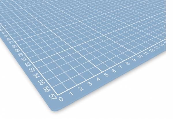 selbstheilende Schneidematte 60 x 45 cm transparent mit Raster