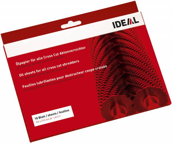 IDEAL Ölpapier für Aktenvernichter 18 Blatt