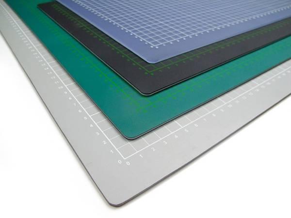 selbstheilende Schneidematte 90 x 120 cm grün mit Raster in Profiqualität