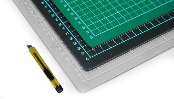 XXL selbstheilende Schneidematte 100 x 200 cm grün mit Raster - Schneidematte auf Maß