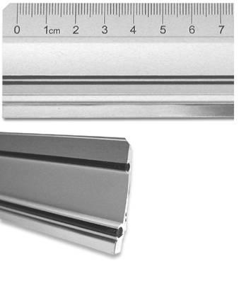 Aluminiumlineal mit Stahlkante bis 150 cm Länge