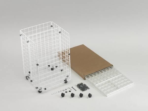 bausatz gitterbox mit rollen 43 x 42 x 66 cm schwarz. Black Bedroom Furniture Sets. Home Design Ideas