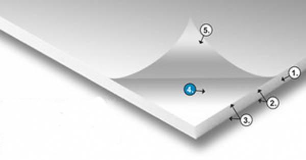 20 Leichtschaumplatten im Format DIN A1 5 mm stark einseitig klebend