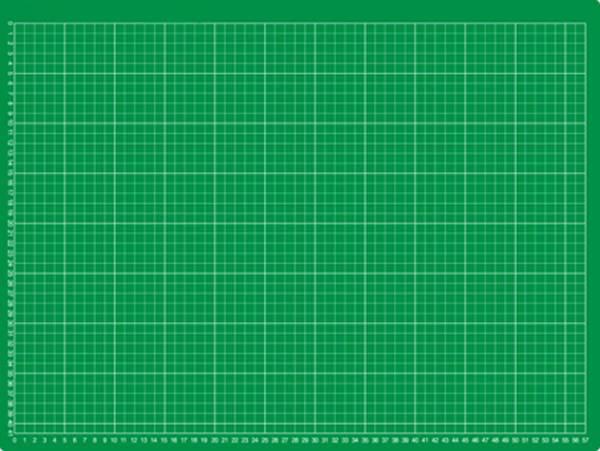 selbstheilende Schneidematte 60 x 45 cm (A1) grün mit einseitigem Raster