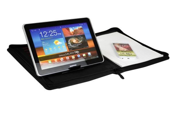 Monolith 2945 Konferenzmappe mit Tabletfach, Zipper und Aufsteller für's Tablet